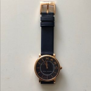 Marc Jacobs Navy Rose Gold Watch